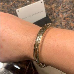 Yurman SS w/ Bronze & Diamonds Cable Bracelet